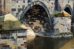 Pilas del puente de Karol Imagen de archivo