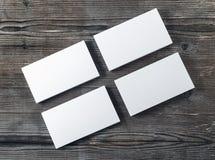 Pilas en blanco de tarjetas de visita Imagen de archivo