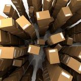 Pilas ilimitadas de cajas de cartón Imagen de archivo libre de regalías