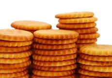 Pilas redondas de la galleta Foto de archivo libre de regalías