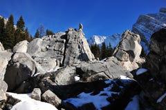 Pilas y montañas de la roca Foto de archivo