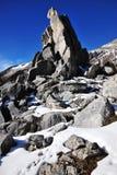 Pilas y montañas de la roca Imágenes de archivo libres de regalías