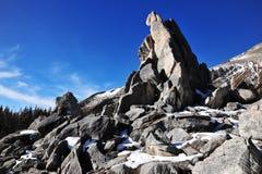 Pilas y montañas de la roca Imagen de archivo