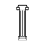pilaster column decoration outline Stock Images