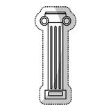pilaster column decoration outline Stock Photography