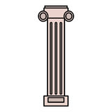 Pilaster column structure image Royalty Free Stock Photography