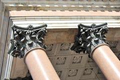 Pilasters de bronze Fotografia de Stock