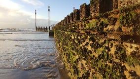 Pilastri e frangiflutti Fotografia Stock