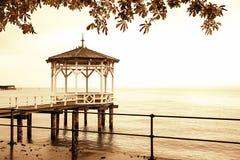 Pilastro al lago di Costanza, seppia tonificata Immagine Stock Libera da Diritti