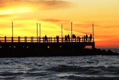 Pilastro al tramonto, Sarawak, Malesia fotografie stock