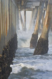 Pilastro alla spiaggia California-02 di Venezia Immagini Stock Libere da Diritti