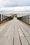 Pilastro britannico del southend della linea costiera Immagine Stock