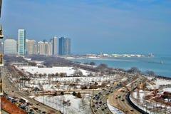 Pilastro Chicago del centro del blu marino fotografie stock