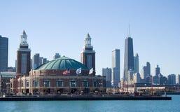 Pilastro del blu marino, Chicago Fotografie Stock