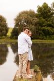 pilastro del fiume delle coppie Fotografia Stock