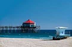 Pilastro del Huntington Beach Immagine Stock Libera da Diritti