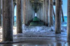 Pilastro del Huntington Beach in HDR 2015 Fotografie Stock Libere da Diritti
