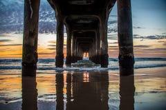 Pilastro del Manhattan Beach fotografia stock