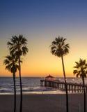 Pilastro del Manhattan Beach fotografia stock libera da diritti