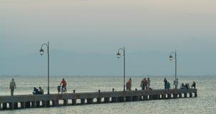 Pilastro del mare all'alba in Grecia video d archivio