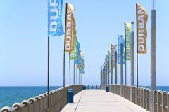 Pilastro del nord della spiaggia a Durban, Sudafrica Fotografia Stock Libera da Diritti