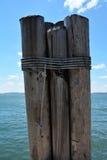 Pilastro del parco di batteria e molo, Manhattan, New York Immagini Stock Libere da Diritti