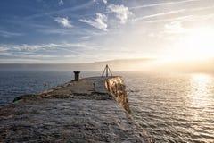 Pilastro della baia di Sennen fotografia stock libera da diritti