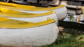 Pilastro della canoa in lago del parco Fotografie Stock Libere da Diritti