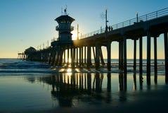 Pilastro della Huntington Beach Immagini Stock