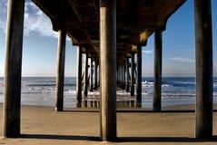 Pilastro della Huntington Beach Fotografia Stock Libera da Diritti