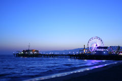 Pilastro della Santa Monica Fotografia Stock