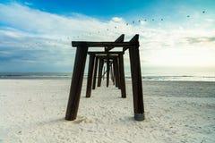 Pilastro della spiaggia Fotografie Stock