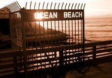 Pilastro della spiaggia dell'oceano Fotografia Stock