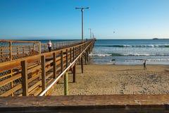 Pilastro della spiaggia di Avila, California fotografia stock