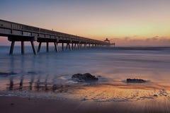 Pilastro della spiaggia di Deerfield Fotografia Stock