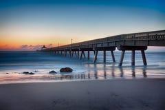 Pilastro della spiaggia di Deerfield Fotografia Stock Libera da Diritti
