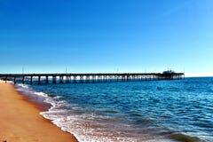 Pilastro della spiaggia di Newport Fotografia Stock