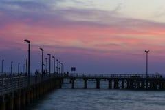 Pilastro della spiaggia a giù Immagini Stock Libere da Diritti