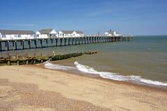 Pilastro della spiaggia, Inghilterra Fotografia Stock Libera da Diritti