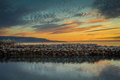 Pilastro di California del sud al tramonto Fotografia Stock Libera da Diritti