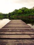 Pilastro di legno Fotografie Stock