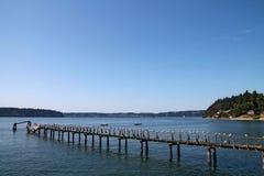 Pilastro di legno di Vashon Island immagine stock libera da diritti