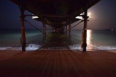 Pilastro di luce della luna Fotografia Stock