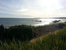 Pilastro di luce solare dell'oceano della costa di California del Nord immagini stock libere da diritti