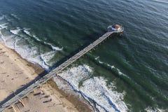 Pilastro di Manhattan Beach e l'oceano Pacifico in California Fotografia Stock