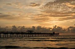 pilastro di mattina di pesca fotografia stock libera da diritti