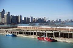 Pilastro di Michigan di lago chicago fotografia stock libera da diritti