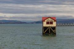 Pilastro di Mumbles, Swansea, Regno Unito fotografie stock