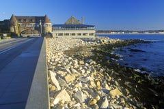 Pilastro di Narragansett sull'itinerario scenico 1S, RI fotografia stock