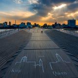 Pilastro di osanbashi di Yokohama, Giappone Immagini Stock Libere da Diritti